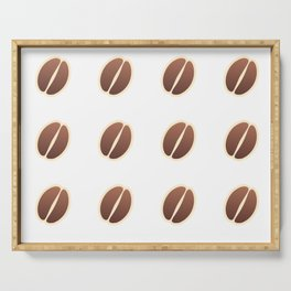 Tasty coffee seamless pattern Serving Tray