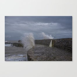 Waves over the Cobb Canvas Print