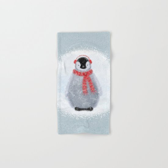 Chilly Little Penguin Hand & Bath Towel