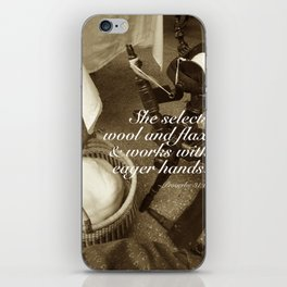 The Spinner (with scripture) iPhone Skin