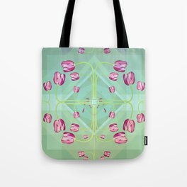 Tulips in green shades Tote Bag