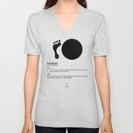 Football is Referred as Unisex V-Neck