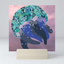 Solly the Sea Creature in the Sky Mini Art Print
