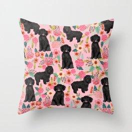 Black Cockapoo Floral dogs, dog blanket, dog mug, cute dog breeds Throw Pillow