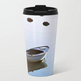 Water mirror and a small boat Travel Mug