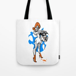 Wilma vs Fred Tote Bag
