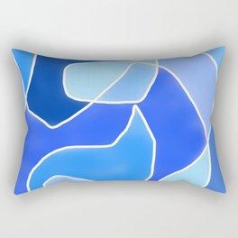 Abstract Blues Rectangular Pillow