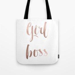 Girl boss - rose gold Tote Bag