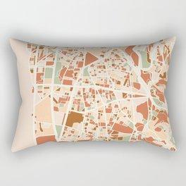 BEIRUT LEBANON CITY MAP EARTH TONES Rectangular Pillow