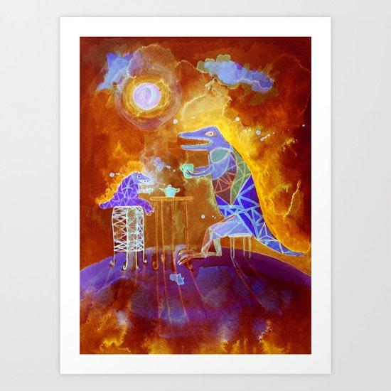 tea time on  Mars Art Print