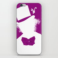 willy wonka iPhone & iPod Skins featuring Willy Wonka Tribute Poster by stefano manca