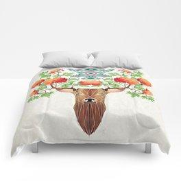 deer flowers Comforters