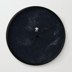 Gravity - Dark Blue Wall Clock