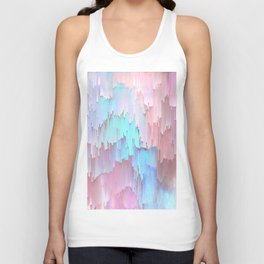 Pastel Glitches Fall Unisex Tank Top