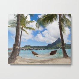 Bora Bora Photography - Tahiti - French Polynesia - Mt Otemanu - Beach - Overwater Bungalow - Fine A Metal Print