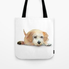 Low Poly Yellow Lab Tote Bag