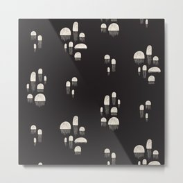 Flora of the Sea - Jellies Metal Print
