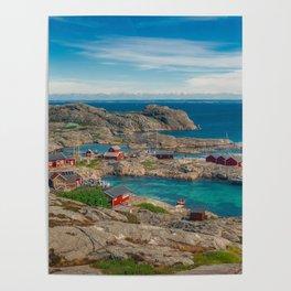 Sleepy Coastal Village Photo Poster