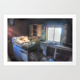 Couldn't Take the Heat, but Couldn't Leave the Kitchen Art Print