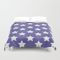 american flag Duvet Covers featuring American Flag by Katie Zimpel