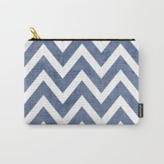 blue chevron Carry-All Pouch