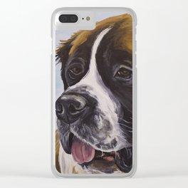 Chloe the Saint Bernard Clear iPhone Case