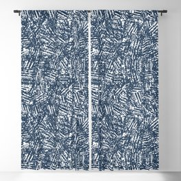 crisscross-blue Blackout Curtain