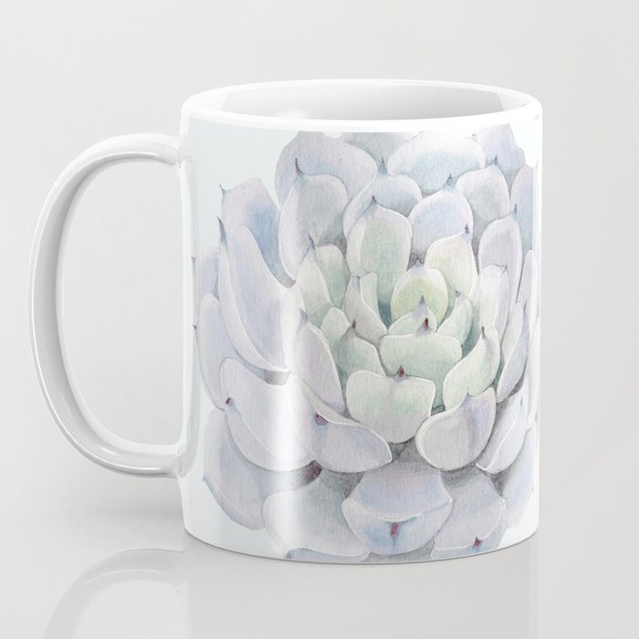 Blue Succulents Coffee Mug