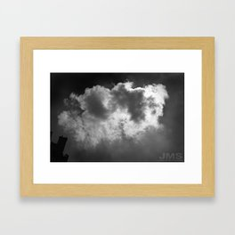 Lone Cloud (over Manhattan) Framed Art Print