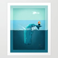 moby Art Prints featuring moby  by mark ashkenazi