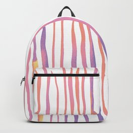 Vertical watercolor lines - pink and ultraviolet Backpack