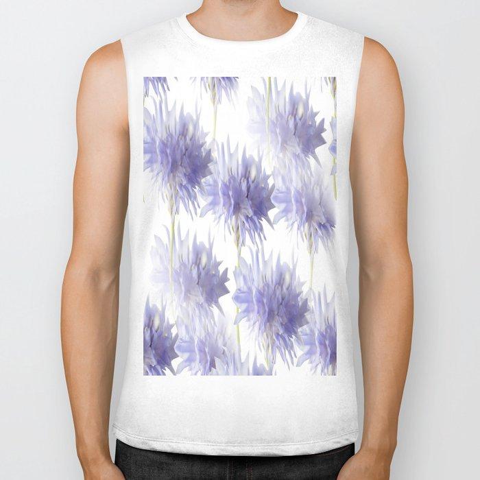 Pale Blue Cornflowers #decor #society6 Biker Tank