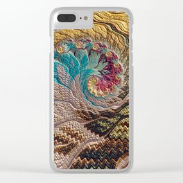 Woven Memories Clear iPhone Case