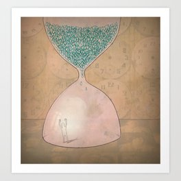 The Captain and The Hourglass Art Print