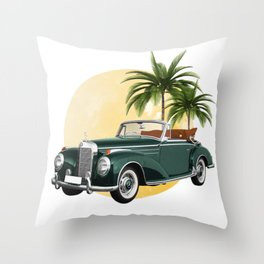 Vintage car,cabriolet Throw Pillow