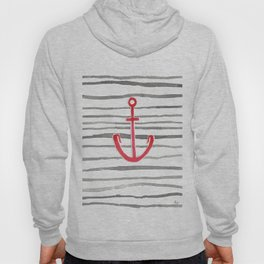 Anchor Symbol - Stripes RED Hoody