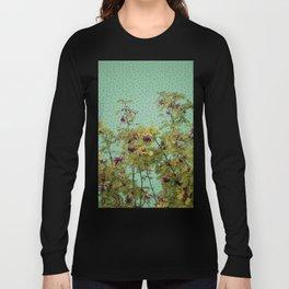 Rowan tree and purple polka dots Long Sleeve T-shirt