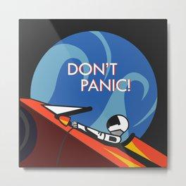 Don't Panic - Spacex Metal Print