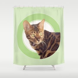 Boris the cat - Boris le chat Shower Curtain