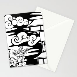 Cherry Blossoms and Pagoda Stationery Cards