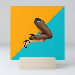 Biracial legs Mini Art Print