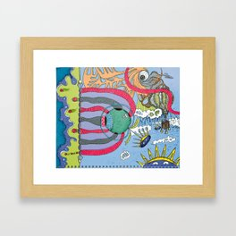 use your imagination Framed Art Print