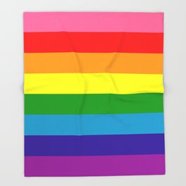 Rainbow Flag (Original Gay Pride Flag Colors) Throw Blanket