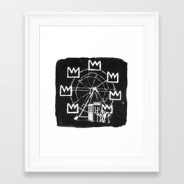 Basquiat Sign Framed Art Print