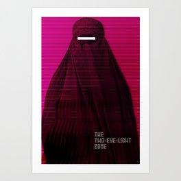 Woman in Burqa Feminist Girl Power Freedom Gender Equality Female Revolution Feminism Art Print