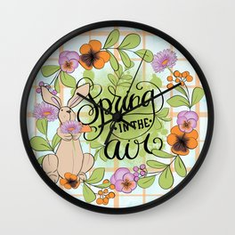 Spring In The Air Wall Clock