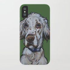 Ollie the English Setter iPhone X Slim Case