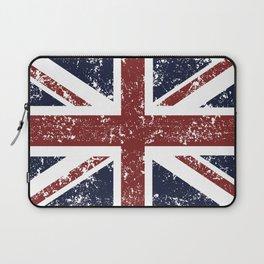 Old scratched United Kingdom flag Laptop Sleeve