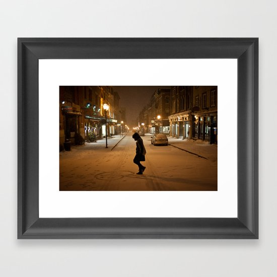 Québec Night Framed Art Print
