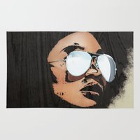afro Area & Throw Rugs featuring Venus Afro by Vin Zzep